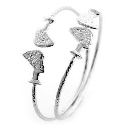 Queen Nefertiti .925 Sterling Silver West Indian Bangles