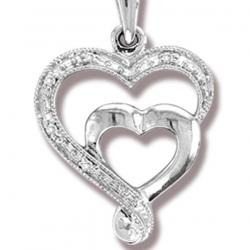 10K  0.02CT  DIAMOND PENDANT.